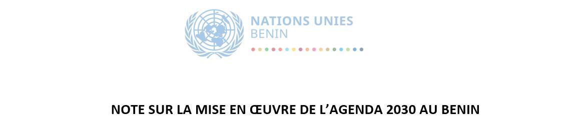NOTE SUR LA MISE EN ŒUVRE DE L'AGENDA 2030 AU BENIN